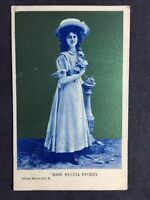Vintage Postcard: Actress : #A80 : Miss Sylvia Storey : Philco  1906