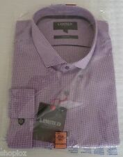 Mens M&S Limited Collection Size 18.5 Slim Fit Check Shirt Bnip