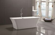 Vanity Art White Acrylic 66.9-Inch Freestanding Soaking Bathtub - Va6820