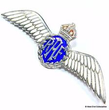 1930s WW2 RAF Wings Royal Air Force Sweetheart SILVER & Enamel Brooch Badge A032