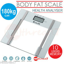 Digital Bathroom Electronic Scales Weight Fat Body Hydration Glass Scale LCD New