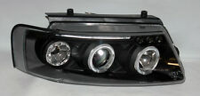 VW Passat 97-00 Black Projector Halo Angel Eyes Headlights Pair RH LH