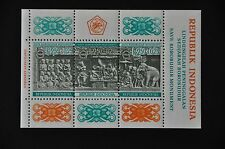 INDONESIA 1968 BL 10 BOROBUDUR  MNH