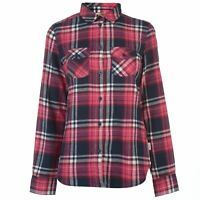 Lee Cooper Womens Flannel Long Sleeve Shirt Casual Lightweight Cotton Print