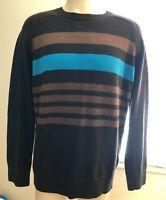 Mountain Hard Wear Men's Large Striped Sweater Merino Wool New