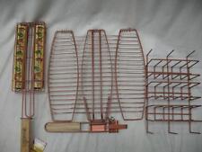 Char-Broil 3 Pc BBQ Tool Accessory Set Non Stick Rib Rack Fish & Kabob Baskets