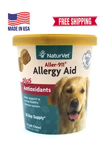 NaturVet Allergy Aid Plus Antioxidants 70 Chews FREE SHIPPING