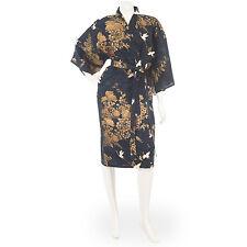 Grúa kimono japonés impresión Corto Azul Marino