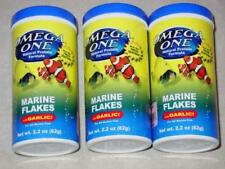 (3) - OMEGA ONE - MARINE FLAKE - with GARLIC FISH Food 2.2 OZ Bottle