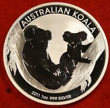 2011 AUSTRALIAN KOALA DESIGN 1 oz .999% SILVER ROUND BULLION COLLECTOR COIN