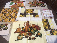 Vintage 60s 70s Never Used Kitchen Towels And Wash Clothes Some Cannon