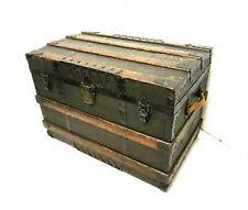 Antique Travelling Steamer Trunk Chest Corbin Cabinet Lock Architecture