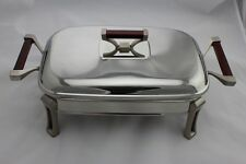 Stainless Steel Chafing Dish / Chafer with Glass Food Tray - 2.0 Litres Capacity