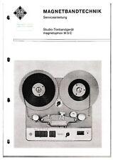Service Manual-Anleitung für Telefunken Magnetophon M 5 C