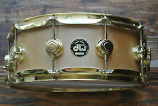 RARE dw USA 1997 CRAVIOTTO SOLID 1-PLY SNARE DRUM with GOLD HARDWARE! LOT #Z417