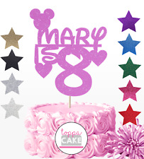 MICKEY MOUSE CLUBHOUSE PERSONALISED ANY NAME AGE CAKE TOPPERS DECORATION