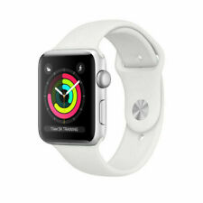 Apple Watch Series 3 38 mm Smartwatch GPS Only, Silver Aluminum Case, White