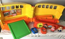 Vintage 1978 Mattel Toy Preschool Rockie Rollies School Bus & Accessories Set