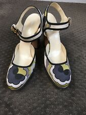 MIU MIU Chunky HEEL Mary Jane silver heel shoes Excellent condition 40 9.5US