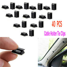40PCS Car Wire Cord Cable Holder Tie Clips Fixer Organizer Drop Adhesive Clamp
