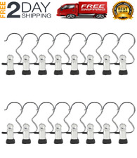 Tekka Set Of 8 Stainless Steel Portable Compact Travel Laundry Hanger Hook By09