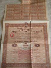 Vintage share certificate Stock Bonds Royaume de Yougoslavie 5% funding 1933