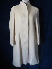 70's Vintage Ivory Cream Satin Lined Forstmann Wool Long Classy Coat Jill Jr. M