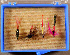 Trout Fishing Lure, Wet / Dry Flies Box Of 4, Pack Fly Hooks,  Lot # 24 As Photo