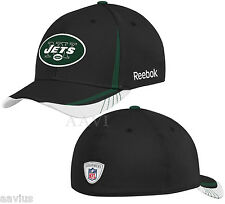 low priced 44e41 91b96 NFL New York Jets Official Sideline Flex-Fit Draft Hat Cap Ball Cap By  Reebok