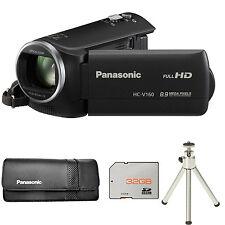 Panasonic HC-V160 Camcorder - Black + VWPS66XEK Case + 32GB Card and Tripod