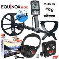 "Minelab EQUINOX 800 Multi-IQ Underwater Waterproof Metal Detector & 11"" DD Coil"