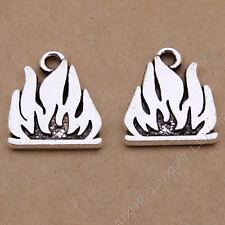 20pc Retro Small Pendant Charm Flame Pendant Beads Jewellery Accessories V817
