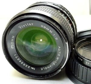 Vivitar 28mm f2.0 manual focus Lens adapted to CANON EF EOS Cameras T6i T7i T2i