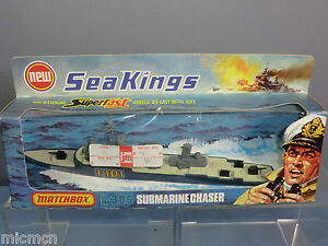 MATCHBOX SEA KINGS  WATER LINE  MODEL No.K-305 SUBMARINE CHASER  MIB