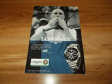 LONGINES CONQUEST WATCH FT ANDRE AGASSI-2008 original advert