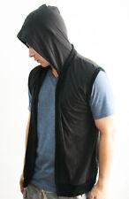 Hooded Regular Size Sleeveless Basic T-Shirts for Men