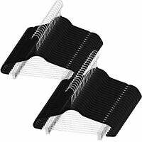 Zober Premium Quality Space Saving Velvet Pants Hangers With Metal Clips - 40 Pk