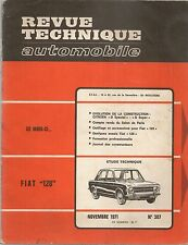 REVUE TECHNIQUE AUTOMOBILE 307 RTA 1971 FIAT 128 CITROEN DSpecial DSuper