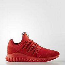 NIB ADIDAS Mens 9 TUBULAR RADIAL RED S80116 LIFESTYLE CASUAL SHOES NEW $110