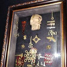 Charm Voodoo Pendant Stuffed Thai Yant  Magic Coffin Rare Only One Cross Yantra