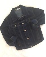 Mavi Jeans Women's Jacket Dark Blue Size Small Denim 400 Kiki 3/4 Sleeve (Inv#7)