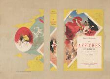 JULES CHERET Les Affiches illustrees,  1886, Art Nouveau Belle Epoque Poster