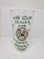 Vintage advertising measuring glass - Clover Darby Coal (1319)