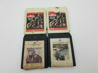 Country Music 8 Track Tapes Lot of 4 History of Country Music Volume 3,4,7,10