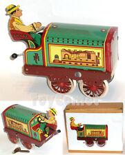 MS809 Classic Tractor Truck Farmer Driver Retro Clockwork Wind Up Tin Toy w/Box