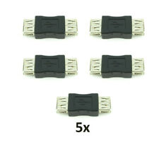 5x New USB 2.0 Type A Female to Female Adapter Coupler Gender Changer Connector