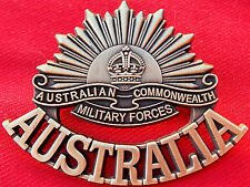 **ANZAC WW1 & WW2 RISING SUN COMMEMORATIVE UNIFORM BADGE MEDALS AUSTRALIA