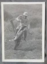 Vintage 1980's MX MOTOCROSS B&W 7X5 PHOTOGRAPH PHOTO BY RICHARD DILIBERTIS