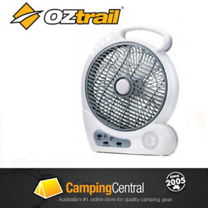 "OZTRAIL 10"" TENT FAN (12V / 240V)  Rechargeable Portable Camp Camping Tent BW"