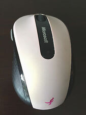 Microsoft Mobile Mouse 4000 WIRELESS Pink SUSAN G KOMEN Breast Cancer Ribbon